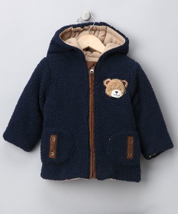 Navy Bear Fleece Jacket - Infant
