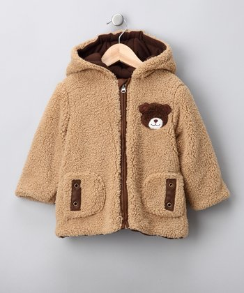 Tan Bear Fleece Jacket