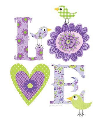 Purple 'Love' Print