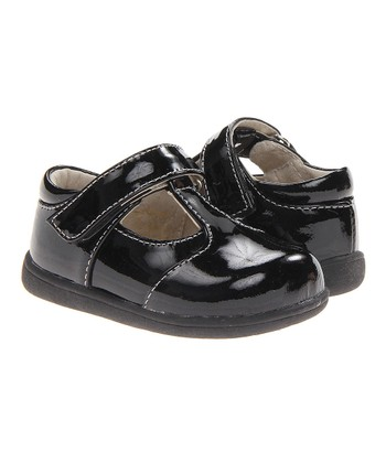 Black Georgia T-Strap Shoe