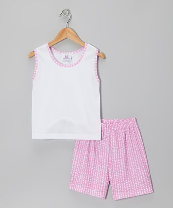 Pink Hearts Pajama Set - Toddler & Girls