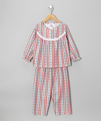 Red Tyrolean Pajama Set - Toddler