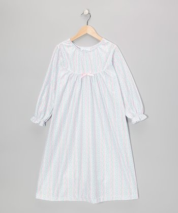 Pink Tyrolean Bow Nightgown - Toddler & Girls