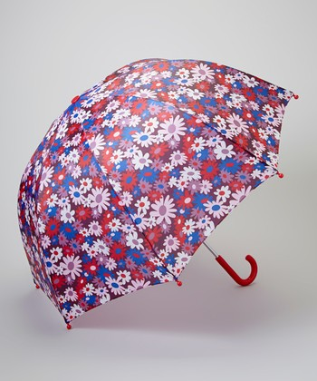 Brown Flower Umbrella