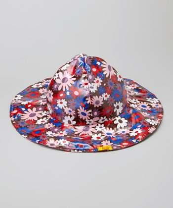 Brown Flower Rain Hat