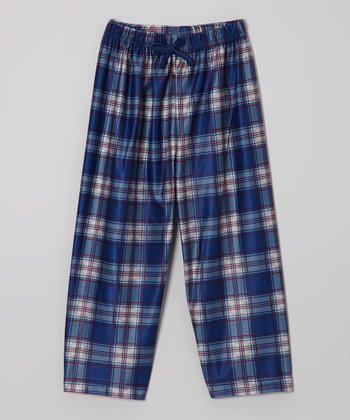 Navy Newport Plaid Pajama Pants - Boys