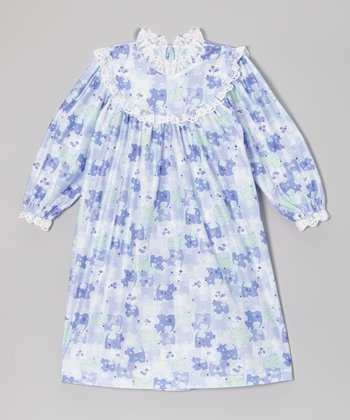 Lavender Puppy Ruffle Nightgown - Toddler & Girls