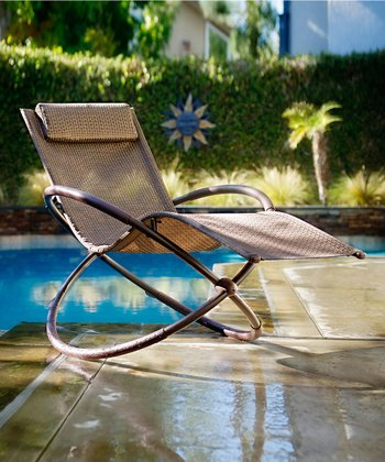 Espresso & Bronze Orbital Outdoor Lounger