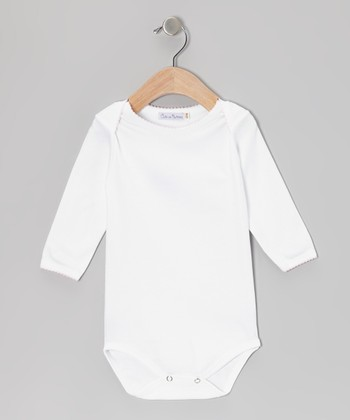 White & Pink Bodysuit - Infant