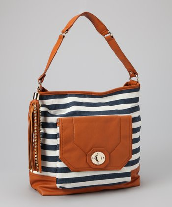 Blue Flint Detachable Crossbody Hobo