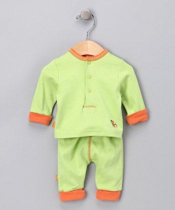 Lime Green Brights Organic Top & Pants