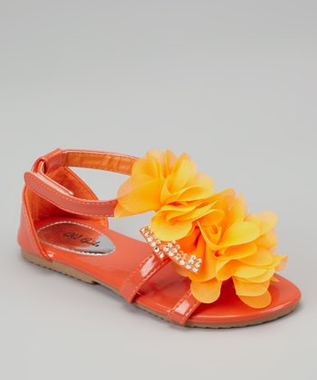 Orange Petal Apple Sandal
