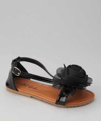 Black Apple 12 Rosette Sandal