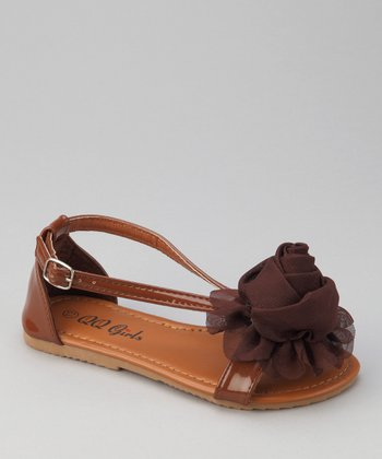 Brown Apple 12 Rosette Sandal