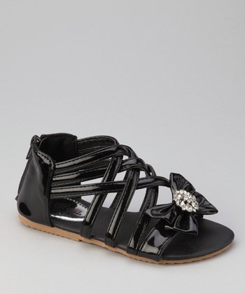 Black Apple 3 Bow Sandal