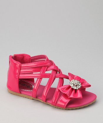 Fuchsia Apple 3 Bow Sandal