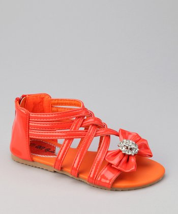 Orange Bow Apple Sandal