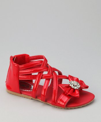 Red Bow Apple Sandal