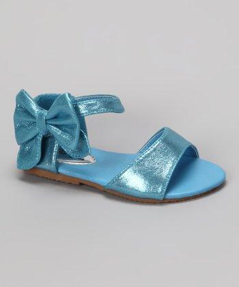Blue Shimmer Apple Sandal