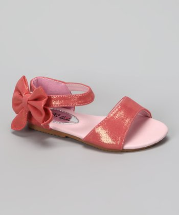 Pink Shimmer Apple Sandal