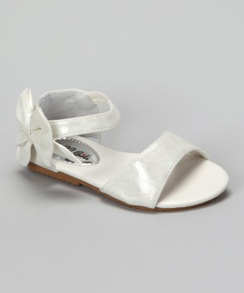 White Shimmer Apple Sandal