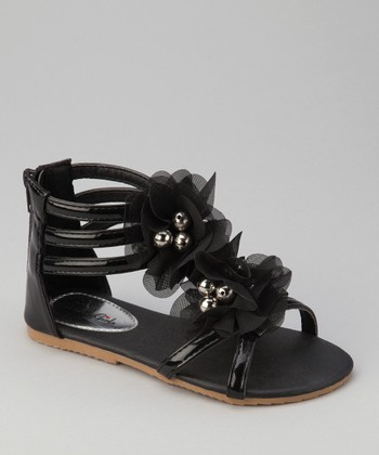 Black Apple Gladiator Sandal