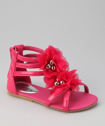 Fuchsia Apple Gladiator Sandal