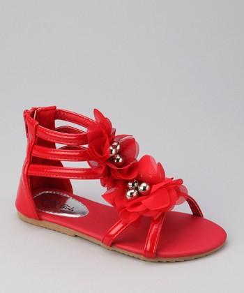 QQ Girl Red Apple Gladiator Sandal