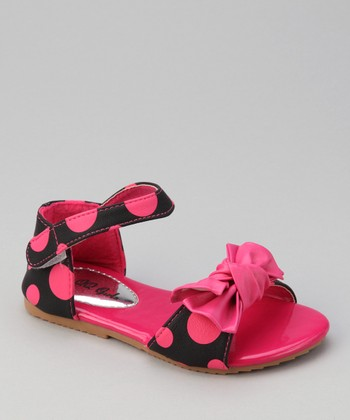 Fuchsia Apple 77 Polka Dot Sandal