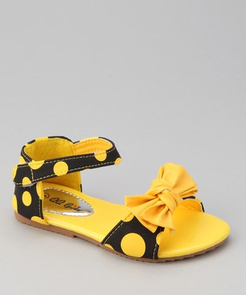 Yellow Polka Dot Apple Sandal