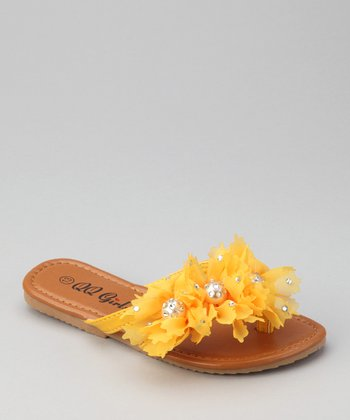 Yellow Floral Play Flip-Flop