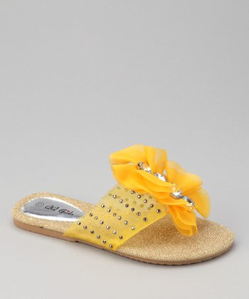 Yellow Studded Play Flip-Flop