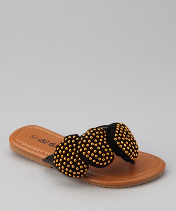 Black Play 88 Heart Sandal
