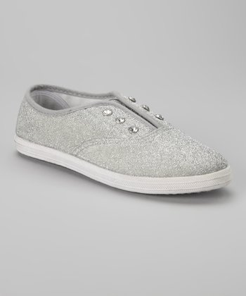 Silver Diamond Slip-On Sneaker