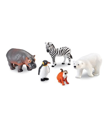 Jumbo Zoo Animals Figurine Set