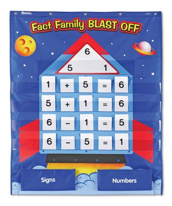 Fact Family Blast Off Pocket Chart Set