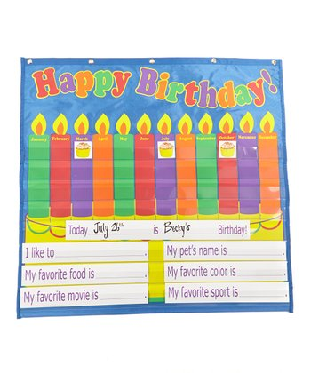 Dry-Erase Birthday Pocket Chart