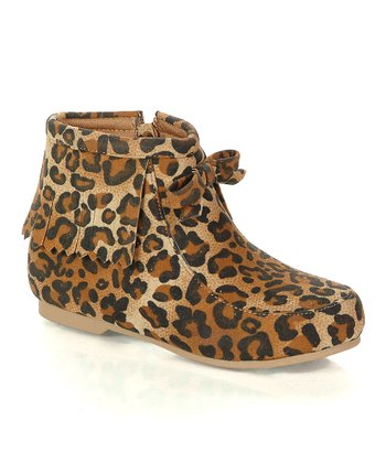 Tan Leopard Ben Boot