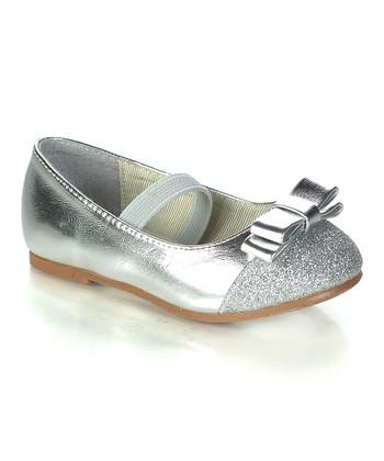Silver Posara Ballet Flat