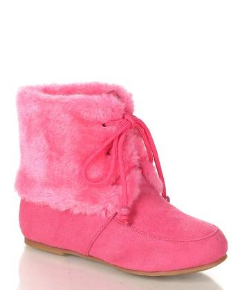 Fuchsia Wooler Boot