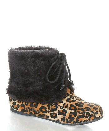 Leopard Wooler Boot