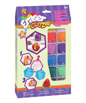 Multicolor 12-Piece Clay Eraser Kit