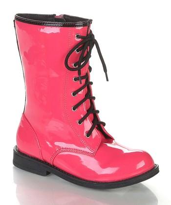 Fuchsia & Black Chrissy Boot