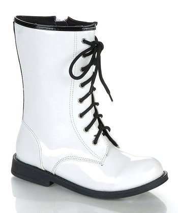 White & Black Chrissy Boot