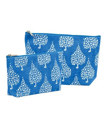 Blue Crete Zip Bag Set