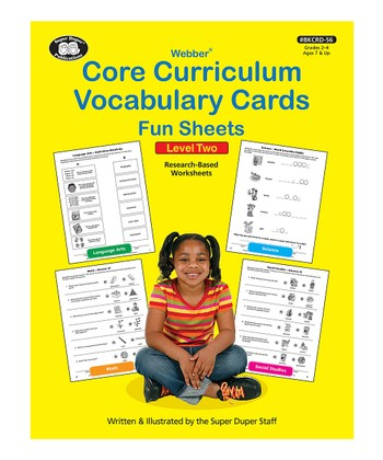 Webber Core Curriculum Vocabulary Cards Fun Sheets: Level 2
