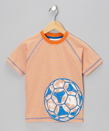Orange Stripe Soccer Tee - Boys
