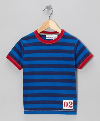 Navy Stripe '02' Tee - Toddler & Boys