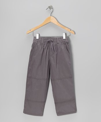 Charcoal Utility Pants - Toddler & Boys