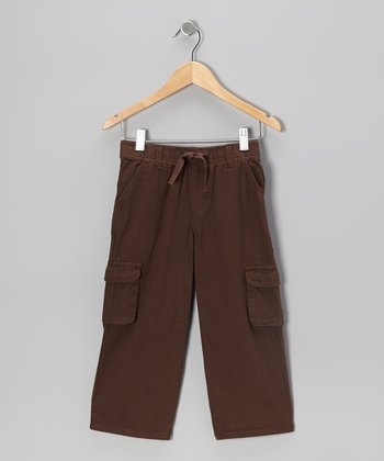 Brown Twill Cargo Pants - Toddler & Boys